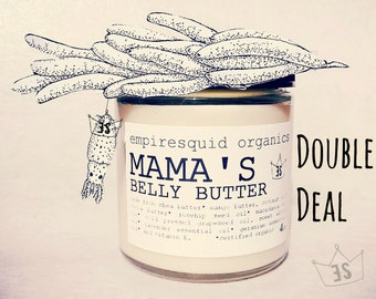 Mama's Double Deal - 16oz Organic Belly Butter - Organic Stretch Mark Cream - Stretch Mark Remover - Organic Pregnancy - Natural Body Butter