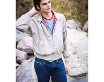 70's Tan Plaid Lined Jacket