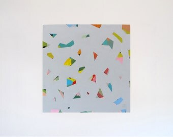 Original Jess Locke Abstract Painting - Colourful Modern Art - Geometric art - Free Domestic Shipping