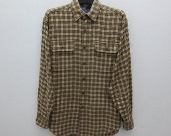 Polo Ralph Lauren Shirt Men Size S Vintage Polo Ralph Lauren Whitfield Shirt Polo Vintage Casual Plaid Shirt