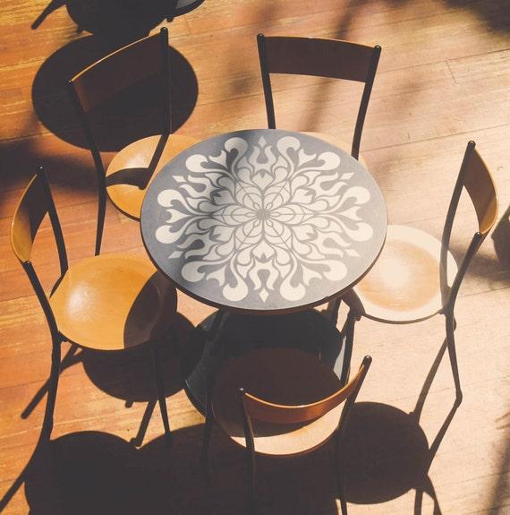 Schablone Wandmalerei blumen mandala schablone möbel stencil wandmalerei