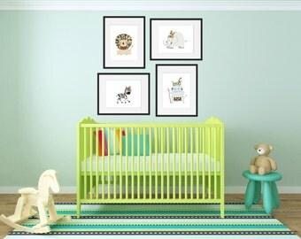 Tribal Safari Decor - Safari Bedroom Decor - Animal Prints - Nursery Decor - Safari Playroom Decor - Kids Room Decor - Safari Birthday
