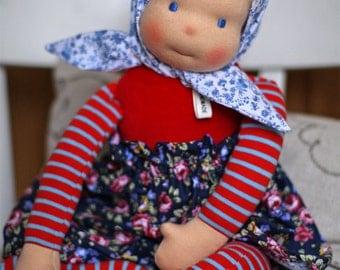 Waldorf doll for girls - Katjusha  waldorf style doll  - handmade waldorf doll  (18 in/46 cm long) for girls of any age