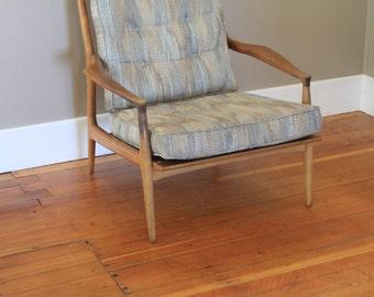 Teak Wood Lounge Chair Mid Century Modern - Taller Chair