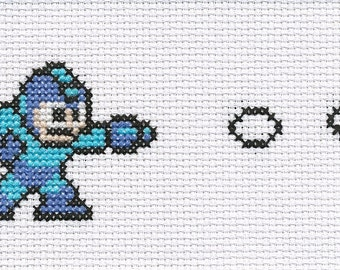 Megaman cross stitch