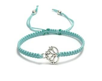 Lotus Bracelet, Lotus Flower Bracelet, Macrame Bracelet, Macrame Jewelry, Lotus Jewelry, Lotus Jewellery, Gift for Her, Gift Idea