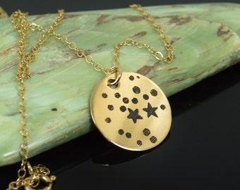 14k Gold Filled Sagittaruis Necklace, Gold Sagittarius Necklace, Gold filled, Constellation, Sagittarius Jewelry, Zodiac Necklace, Zodiac,