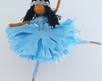 fairy doll, black doll, ballerina doll, doll, flower fairy doll,bendy doll