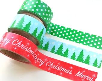Christmas washi tapes, set of 3