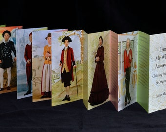 I Am My White Ancestors accordion book