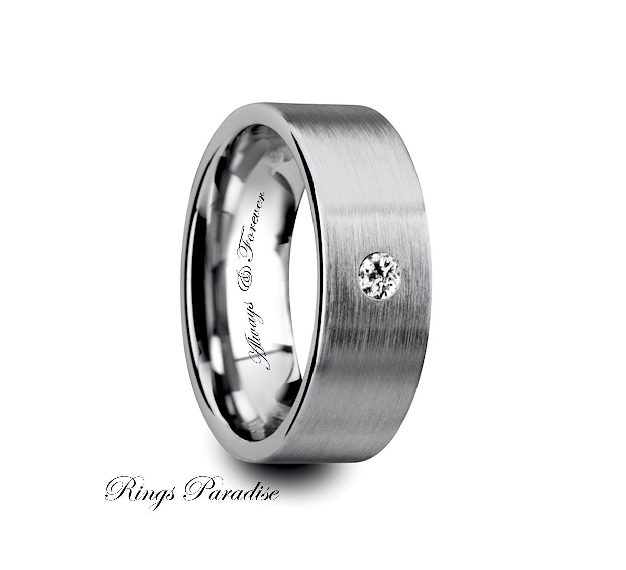 mens tungsten ring unique mens ring tungsten by ringsparadise