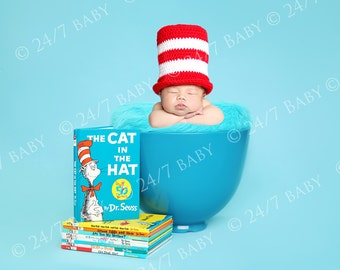 Digital Studio Backdrop Instant Download Dr Seuss Inspired Scene Prop Newborn Baby Photography