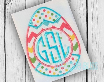 Monogram Easter Egg Digital Applique Design - Easter Applique Design - Easter Embroidery Design - Easter Egg - Easter Bunny