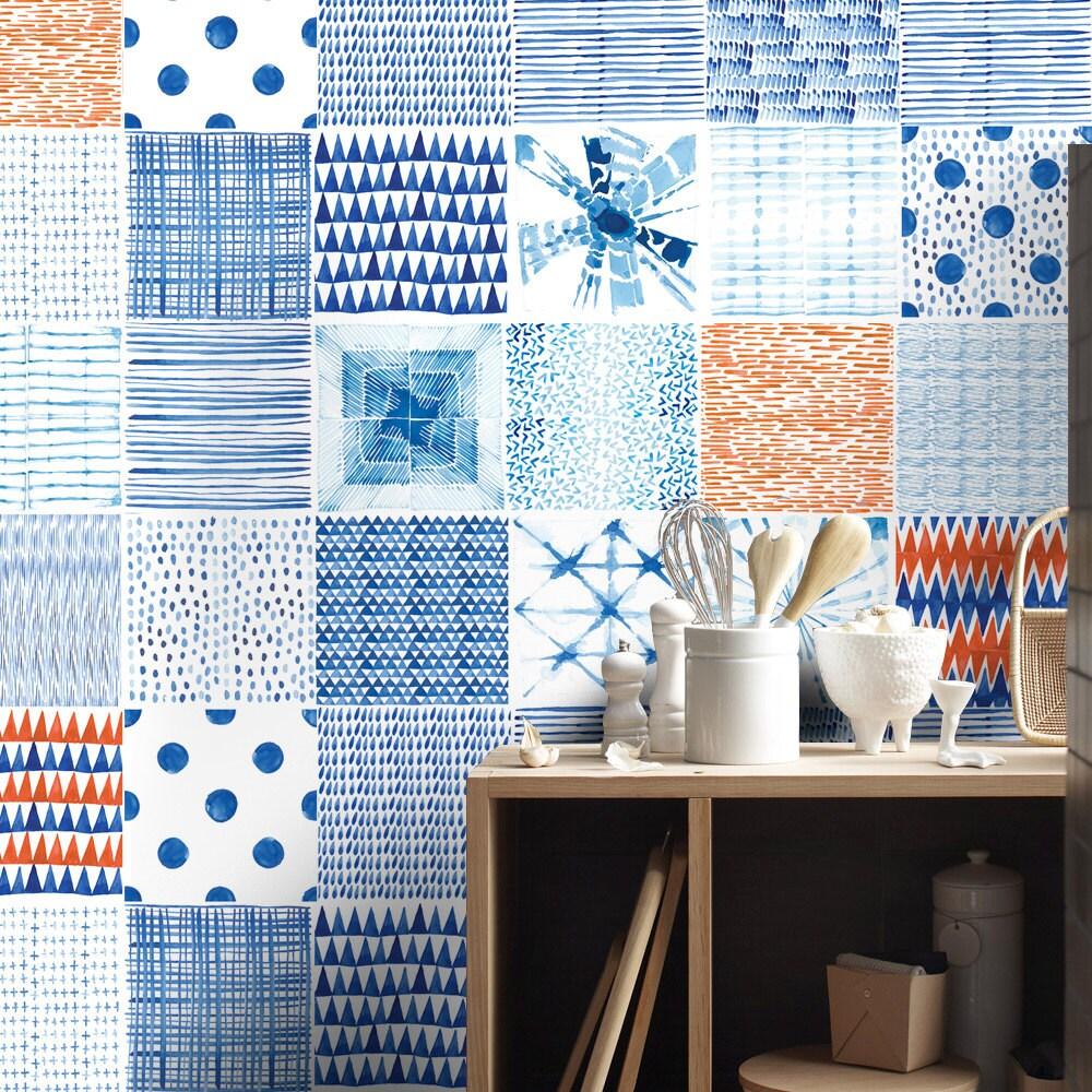 Kitchen Tile Decals Stickers Shibori Tile Decals Tile Stickers Kitchen Tiles