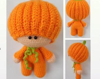 Crochet Pattern Amigurumi Doll -  Pumpkin Pippa
