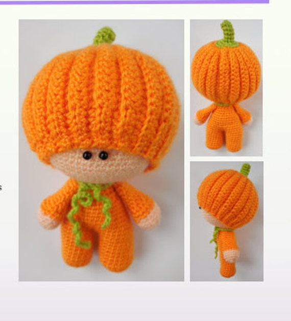 Amigurumi Pumpkin Crochet Pattern : Crochet Pattern Amigurumi Doll Pumpkin Pippa