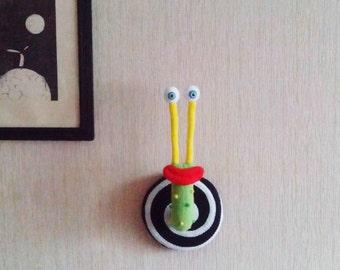 Wall Decor Nursery-Children's Room Decor- Fantasy Snail-Animal head wall hanging