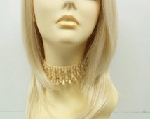 Long 19 inch Straight Lace Front Heat Resistant Wig with Light Blonde Color. [38-213-Sally-613]