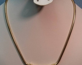 """Gold Nugget Style Necklace  16.5"""" Long"""