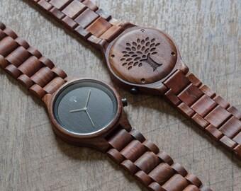 Wood Watch, Red watch, Wooden watch,mens watch, handmade, groomsmen gift, watch, Valentine's day, birthday,mens gift, anniversary gift, BFR