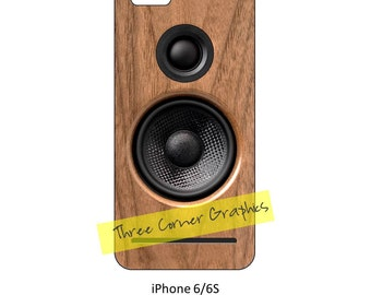 iPhone 6 printable speaker case design for audiophiles, DIY print at home iPhone accessories for 6 or 6S