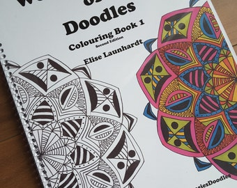 Book: Weasie's World of Doodles, Colouring Book 1