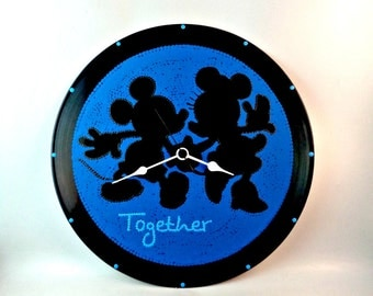 Mickey & Minnie, Wall clock, Disney clock, Disney, Mickey and Minnie together, Wall art, Kids decor, Home Decor, MiniDotClocks