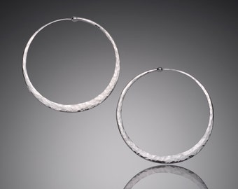 X Large Hoop Earrings  // 2 inch Big Hoop Earrings // Large Sterling Silver Hoop Earrings