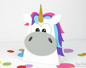Unicorn Favor Box : Handcrafted Rainbow Party Favor | Magical Gift Box | Rainbow Pony Party | Unicorn Party Favor | Made to Order