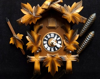 Two Tone Hubert Herr 30 Hour Cuckoo Clock - German 70's SERVICED