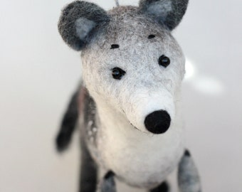 Wolf Felt Toy - Ralph, Art Toy Marionette Gift for kids Puppet Woodland animal Felt Stuffed plush toy Forest animals for boy.