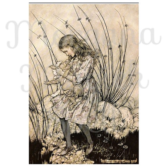 ALICE in WONDERLAND- With Pig Arthur Rackham
