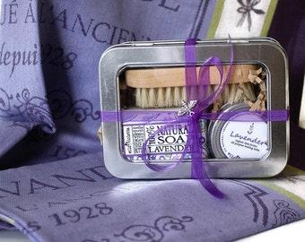 Lavender Spa Gift Set / Ready to Ship / Lavender Towel Option
