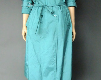 green trench coat, trench coat women, spy coat, spring coat, rain coat