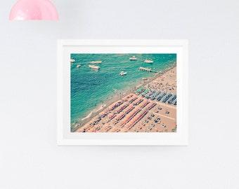 Positano Italy Photography Print - Beach photography. Coastal photography. Ocean.