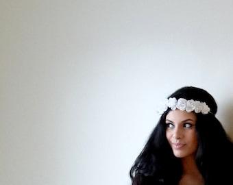 ROMANTIC Flower Crown, Floral Headband, Boho Headband, Floral Crown