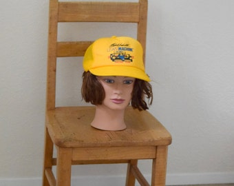 Vintage 'Michael Andretti Lean Machine Racing Team' Snap Back Mesh Trucker Cap / Hat