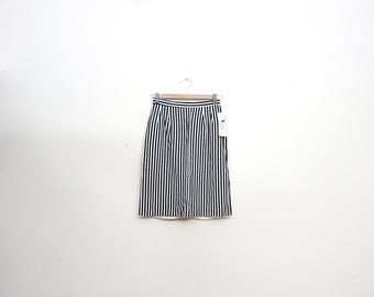 Vintage 1980's DeadStock Vertical Stripe Lydia Beetlejuice Pencil Skirt Size S