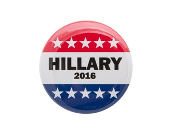 Hillary Clinton 2016 Election Democrat Liberal Pinback Button or Bottle Opener.