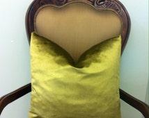 Antique Gold Velvet Pillow Cover, Solid Gold Velvet Pillow, Gold Pillow, Decorative Pillow, Rusty Gold Cushion, Velvet Throw Pillow Covers