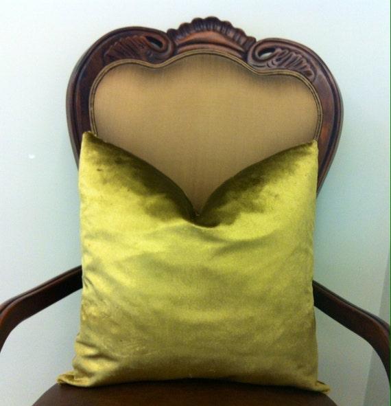 Antique Gold Decorative Pillows : Antique Gold Velvet Pillow CoverVelvet PillowGold by artdecopillow
