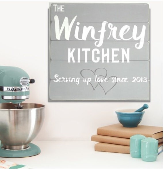 Personalised Kitchen Signs: Personalized Kitchen Signs Kitchen Decor Kitchen Wood