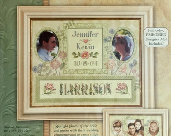 WEDDING Cross Stitch Kit ~ Dimensions BRIDE RECORD Frame A Name Special Days