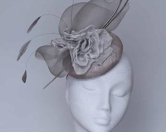 Silver Grey Fascinator Headpiece