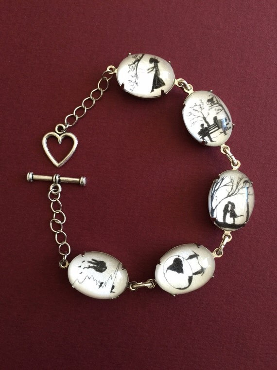 Sale 20% Off //LOVE STORY Bracelet - special edition - Silhouette Jewelry // Coupon Code SALE20