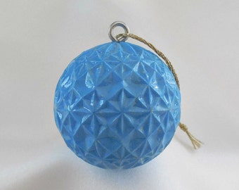 Golf Ornament, Golf Gift, Carved Golf Ball, Blue Christmas Ornament, Golf Gift for Men or Women Golfer