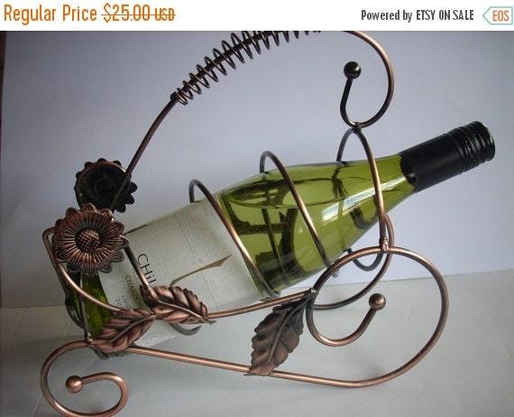 ON SALE Vintage Metal Wine Rack Wine Holder Wine By