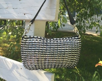 black pop tab purse