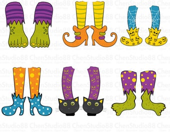 Halloween Feet vector - Digital Clipart - Instant Download - EPS, PNG files included