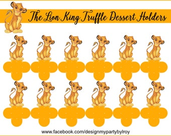 THE LION KING,The Lion King Party Favors,The  Lion King Party Printable,The Lion King Treats,The Lion King Candy Holders,The Lion King Cups.